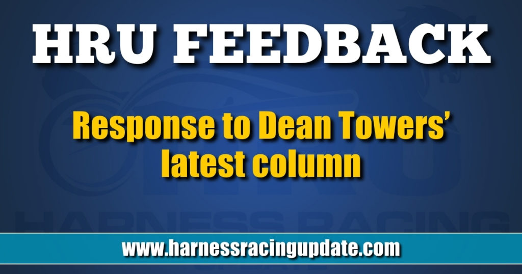 Response to Dean Towers' latest column