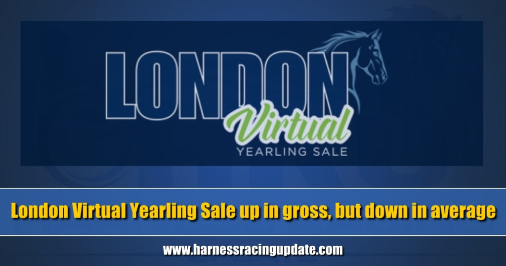London Virtual Yearling Sale up in gross, but down in average